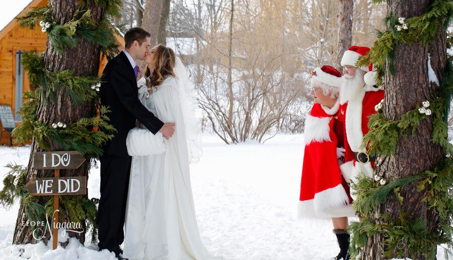 Ceremonie laique mariage Noël Hiver