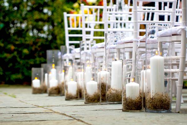 Decoration Allee bougies