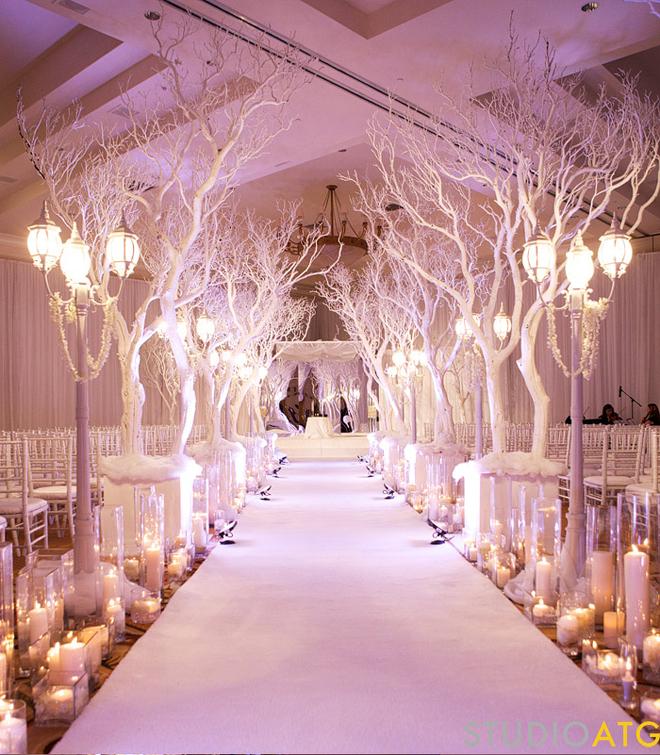 Decoration Allee ceremonie bougies interieur