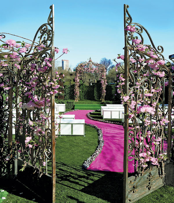 Decoration Allee mariage courbe