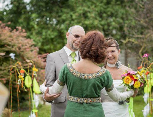 02 mariage laique champetre accueil des maries